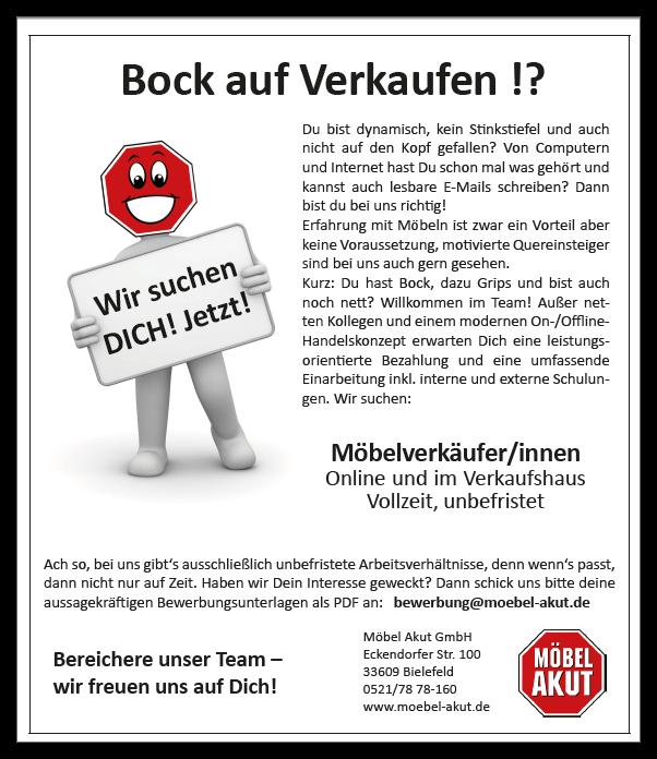 Stellenangebote | Möbel AKUT GmbH